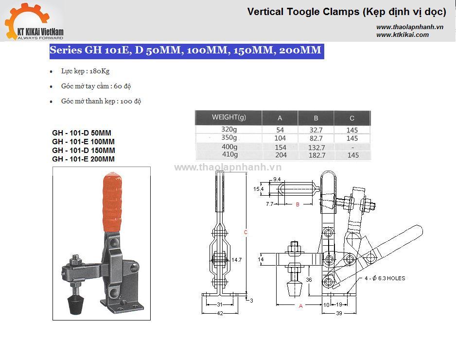 Kẹp định vị GH 101E,D catalog