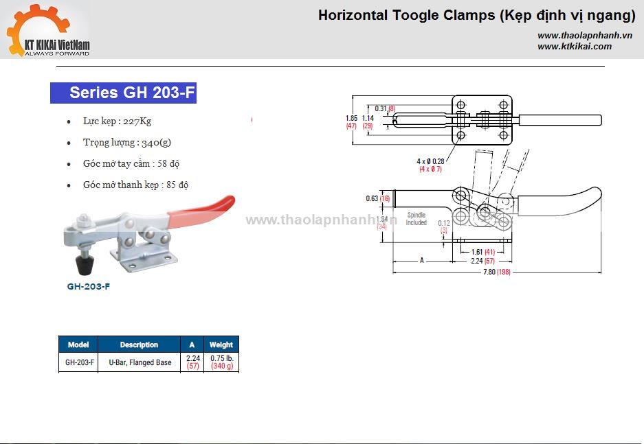 Kep-ngang-GH-203F-catalog hanoi ho chi minh