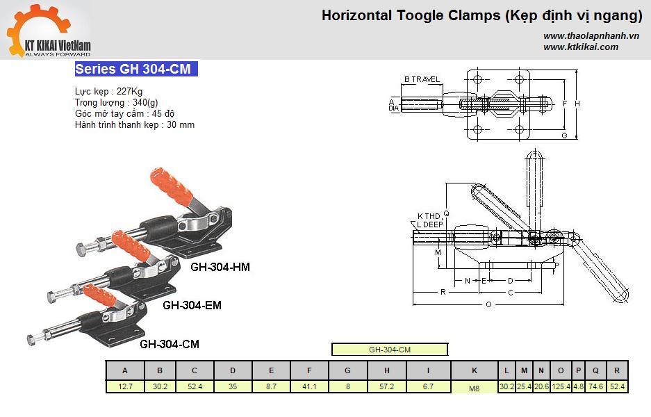 GH304C Kẹp định vị catalog