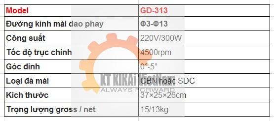 thong so ky thuat may mai dao phay cnc gd-313 hn hcm